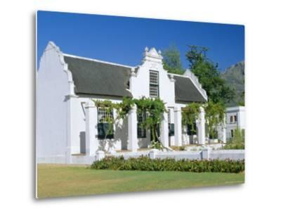 Cape Dutch Architecture, Early 19th C. Stellenbosch, South Africa-Fraser Hall-Metal Print