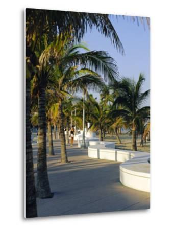 Fort Lauderdale, Wave Wall Promenade, Florida, USA-Fraser Hall-Metal Print