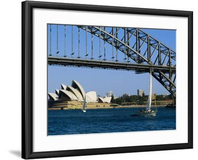 Opera House and Harbour Bridge, Sydney, Australia-Fraser Hall-Framed Photographic Print