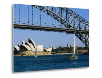 Opera House and Harbour Bridge, Sydney, Australia-Fraser Hall-Metal Print