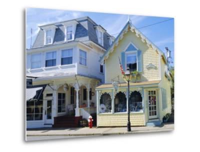 Oak Bluffs, Martha's Vineyard, Cape Cod, Massachusetts, USA-Fraser Hall-Metal Print