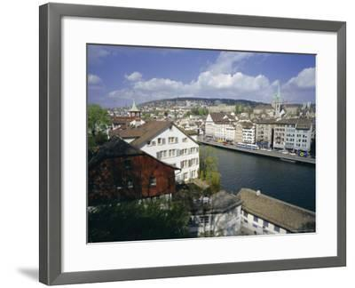 General View from Lindenhof of the City Across the Zimmat River, Zurich, Switzerland, Europe-Guy Thouvenin-Framed Photographic Print