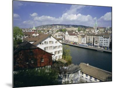 General View from Lindenhof of the City Across the Zimmat River, Zurich, Switzerland, Europe-Guy Thouvenin-Mounted Photographic Print