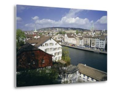 General View from Lindenhof of the City Across the Zimmat River, Zurich, Switzerland, Europe-Guy Thouvenin-Metal Print