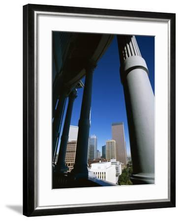 View from State Capitol of Downtown Skyline, Denver, Colorado, USA-Jean Brooks-Framed Photographic Print