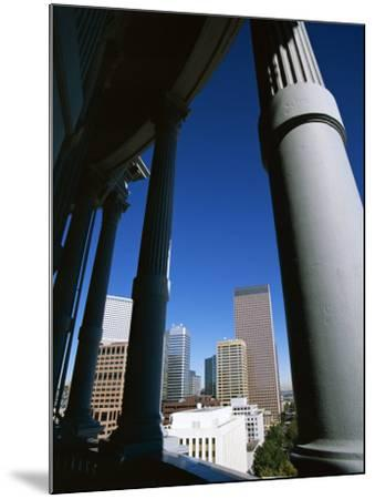 View from State Capitol of Downtown Skyline, Denver, Colorado, USA-Jean Brooks-Mounted Photographic Print