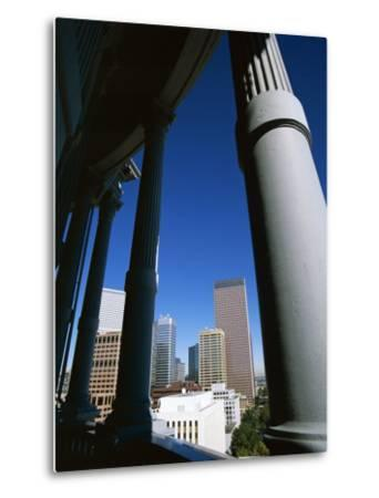 View from State Capitol of Downtown Skyline, Denver, Colorado, USA-Jean Brooks-Metal Print