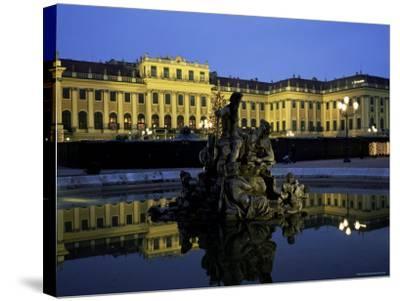 Schonbrunn Palace at Dusk, Unesco World Heritage Site, Vienna, Austria, Europe-Jean Brooks-Stretched Canvas Print