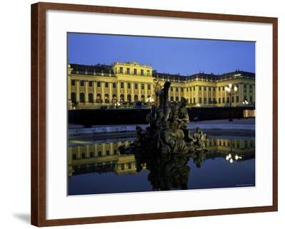 Schonbrunn Palace at Dusk, Unesco World Heritage Site, Vienna, Austria, Europe-Jean Brooks-Framed Photographic Print