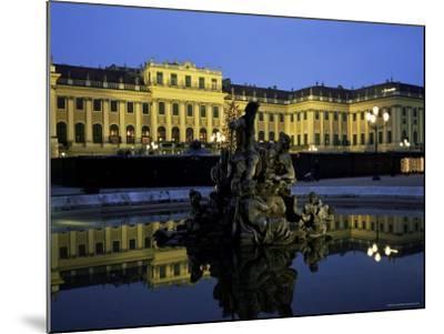 Schonbrunn Palace at Dusk, Unesco World Heritage Site, Vienna, Austria, Europe-Jean Brooks-Mounted Photographic Print