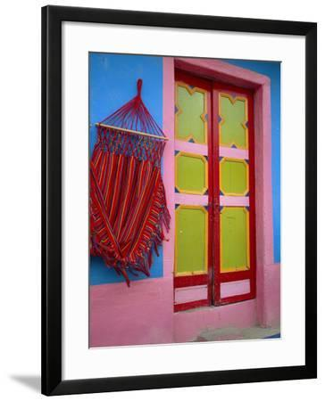 Close-up of Doorway and Hammock, Raquira, Boyaca Region, Columbia, South America-D Mace-Framed Photographic Print