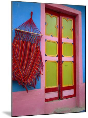 Close-up of Doorway and Hammock, Raquira, Boyaca Region, Columbia, South America-D Mace-Mounted Photographic Print
