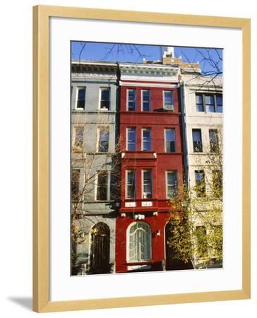 Brownstone, Upper West Side, New York City, New York, USA-Ethel Davies-Framed Photographic Print