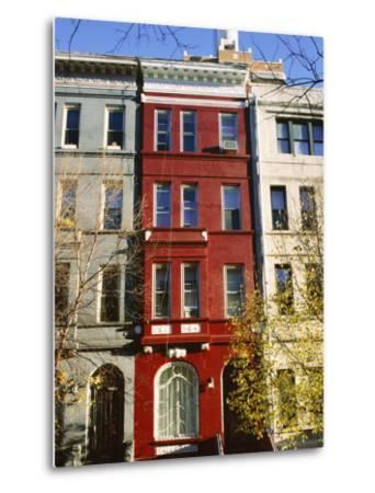 Brownstone, Upper West Side, New York City, New York, USA-Ethel Davies-Metal Print
