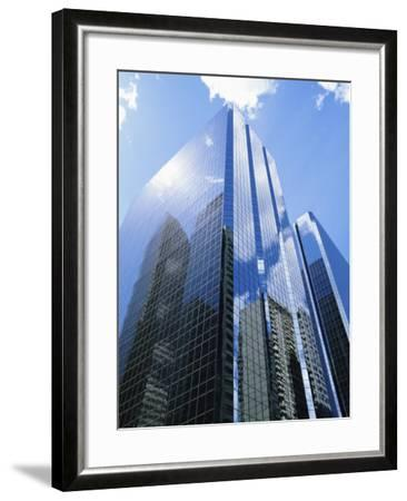 Reflections in Glass of a Modern Skyscraper, Downtown, Calgary, Alberta, Canada-Ethel Davies-Framed Photographic Print
