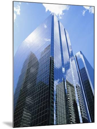 Reflections in Glass of a Modern Skyscraper, Downtown, Calgary, Alberta, Canada-Ethel Davies-Mounted Photographic Print