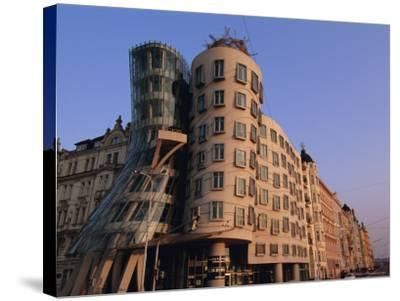 Fred and Ginger Building, Prague, Czech Republic, Europe-Neale Clarke-Stretched Canvas Print