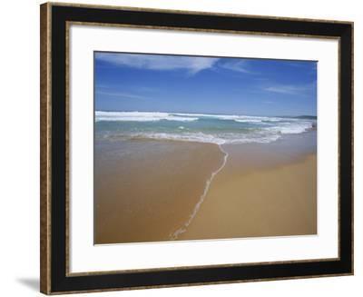 Sand and Surf, Waitpinger Beach, Fleurieu Peninsula, South Australia, Australia, Pacific-Neale Clarke-Framed Photographic Print