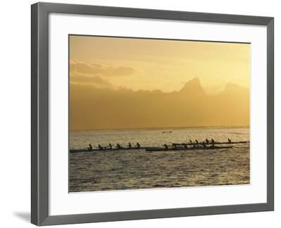 Boats at Sea, French Polynesia-Sylvain Grandadam-Framed Photographic Print