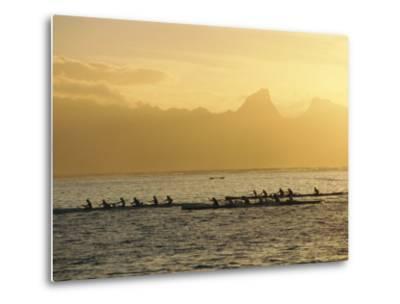 Boats at Sea, French Polynesia-Sylvain Grandadam-Metal Print