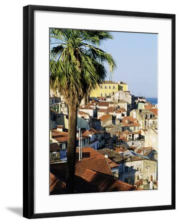 View of Alfama District and the Tagus River, Lisbon, Portugal, Europe-Sylvain Grandadam-Framed Photographic Print