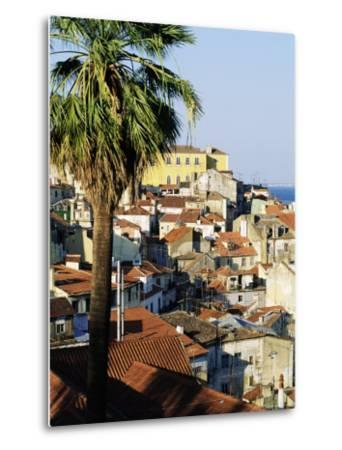 View of Alfama District and the Tagus River, Lisbon, Portugal, Europe-Sylvain Grandadam-Metal Print