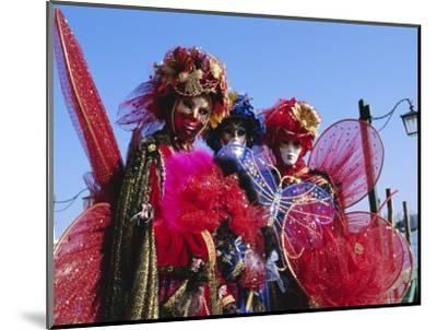 People Wearing Masked Carnival Costumes, Venice Carnival, Venice, Veneto, Italy-Bruno Morandi-Mounted Photographic Print