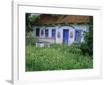 Painted House, Zalipie, Little Poland, Poland-Bruno Morandi-Framed Photographic Print