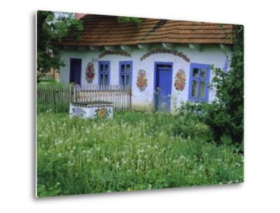Painted House, Zalipie, Little Poland, Poland-Bruno Morandi-Metal Print