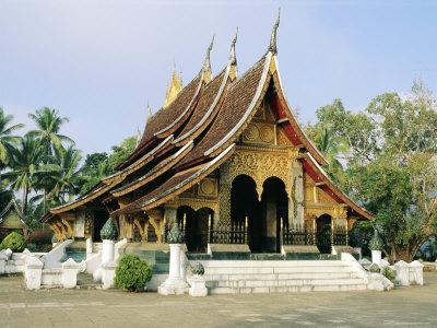 Wat Xieng Thong, Luang Prabang, Laos, Asia-Bruno Morandi-Framed Photographic Print