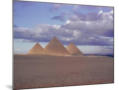 Pyramid of Menkewre (Left), Pyramid of Chephren (Centre), Pyramid of Cheops (Right), Giza, Egypt-Walter Rawlings-Mounted Photographic Print