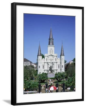 St. Louis Christian Cathedral in Jackson Square, French Quarter, New Orleans, Louisiana, USA-Gavin Hellier-Framed Photographic Print