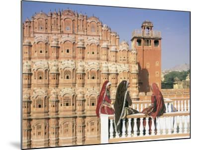 Women in Saris in Front of the Facade of the Palace of the Winds (Hawa Mahal), Jaipur, India-Gavin Hellier-Mounted Photographic Print