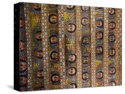 The Famous Painting of the Winged Heads of 80 Ethiopian Cherubs, Debre Selassie Church, Ethiopia-Gavin Hellier-Stretched Canvas Print