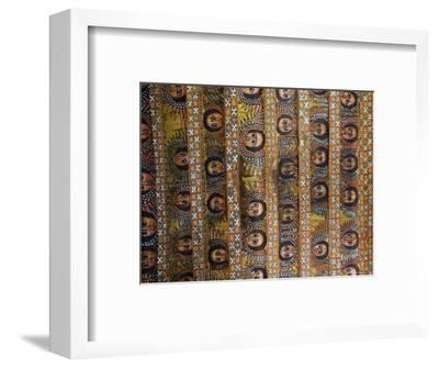 The Famous Painting of the Winged Heads of 80 Ethiopian Cherubs, Debre Selassie Church, Ethiopia-Gavin Hellier-Framed Photographic Print