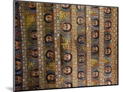 The Famous Painting of the Winged Heads of 80 Ethiopian Cherubs, Debre Selassie Church, Ethiopia-Gavin Hellier-Mounted Photographic Print
