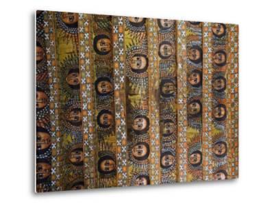 The Famous Painting of the Winged Heads of 80 Ethiopian Cherubs, Debre Selassie Church, Ethiopia-Gavin Hellier-Metal Print