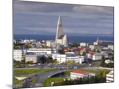 The 75M Tall Steeple and Vast Modernist Church of Hallgrimskirkja, Reykjavik, Iceland-Gavin Hellier-Mounted Photographic Print