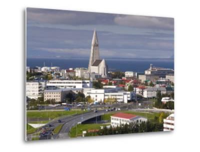 The 75M Tall Steeple and Vast Modernist Church of Hallgrimskirkja, Reykjavik, Iceland-Gavin Hellier-Metal Print