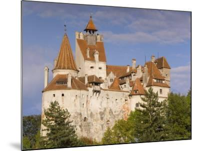 Bran Castle Perched Atop a 60M Peak in the Centre of the Village, Saxon Land, Transylvania-Gavin Hellier-Mounted Photographic Print