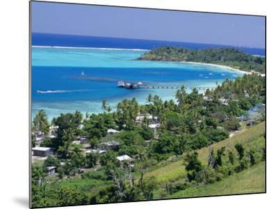 Resort Huts Beside Coral Sand Beach, Fiji, South Pacific Islands-Anthony Waltham-Mounted Photographic Print