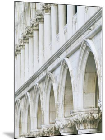 White Columns and Arches of Ducale Palace, St. Mark's Square, Venice, Veneto, Italy-Lee Frost-Mounted Photographic Print