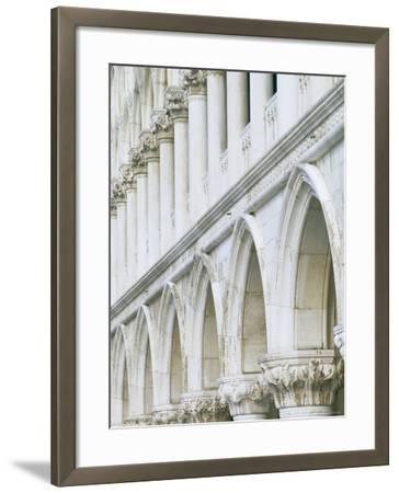 White Columns and Arches of Ducale Palace, St. Mark's Square, Venice, Veneto, Italy-Lee Frost-Framed Photographic Print