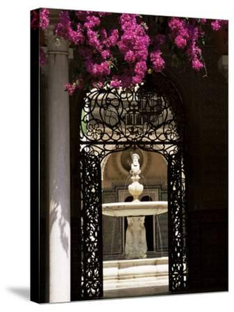 View Through Wrought Iron Gateway to the Patio Principal, Andalucia (Andalusia), Spain-Ruth Tomlinson-Stretched Canvas Print