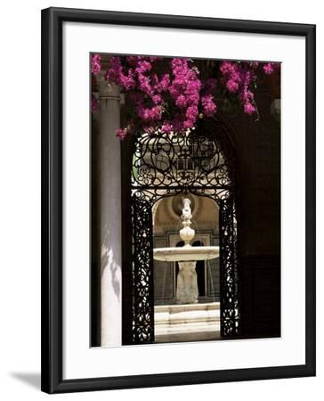 View Through Wrought Iron Gateway to the Patio Principal, Andalucia (Andalusia), Spain-Ruth Tomlinson-Framed Photographic Print