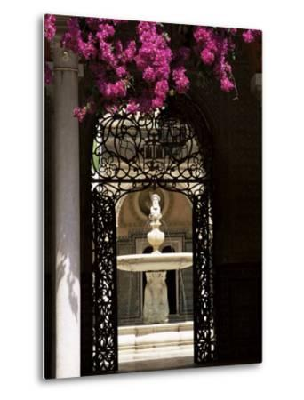 View Through Wrought Iron Gateway to the Patio Principal, Andalucia (Andalusia), Spain-Ruth Tomlinson-Metal Print