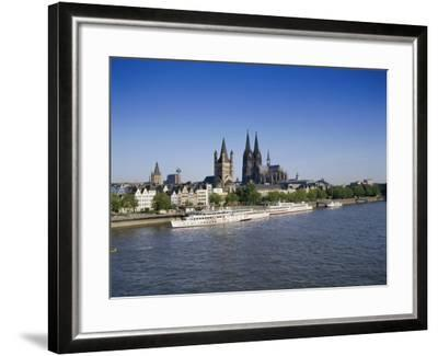 The Cathedral and River Rhine, Cologne, North Rhine Westphalia, Germany-Hans Peter Merten-Framed Photographic Print