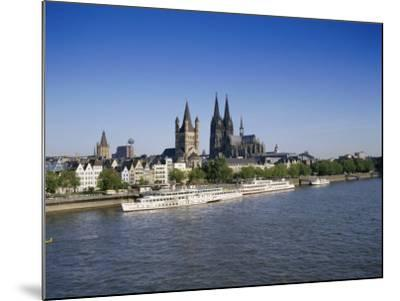 The Cathedral and River Rhine, Cologne, North Rhine Westphalia, Germany-Hans Peter Merten-Mounted Photographic Print