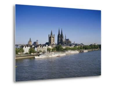 The Cathedral and River Rhine, Cologne, North Rhine Westphalia, Germany-Hans Peter Merten-Metal Print