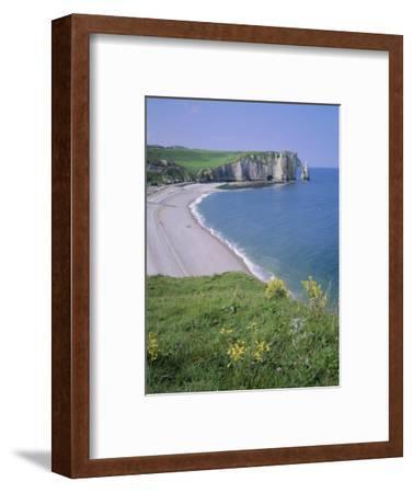 Bay and Cliffs, Etretat, Cote d'Albatre (Alabaster Coast), Haute Normandie (Normandy), France-Roy Rainford-Framed Photographic Print